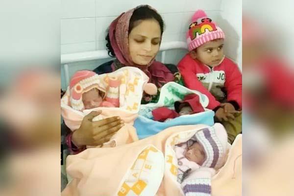 होशिरयारः महिला ने एक साथ तीन बच्चों को दिया जन्म, देखें पहली तस्वीर