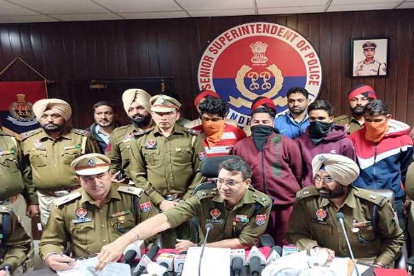 जालंधर पुलिस ने चार नशा तस्करों को किया काबू, हथियार भी बरामद