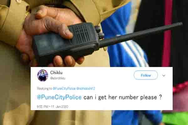 लड़के ने मांगा लड़की का मोबाइल नंबर, पुलिस ने दिया ऐसा जवाब हर तरफ हो रही तारीफ