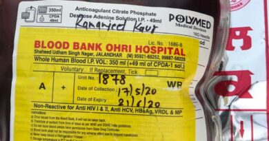 जालंधर में डॉक्टरों की बड़ी लापरवाही. मरीज को O+ की बजाए चढ़ा दिया A+ ब्लड. मरीज की बिगड़ी हालत. ओहरी अस्पताल और रत्न अस्पताल के खिलाफ शिकायत दर्ज.