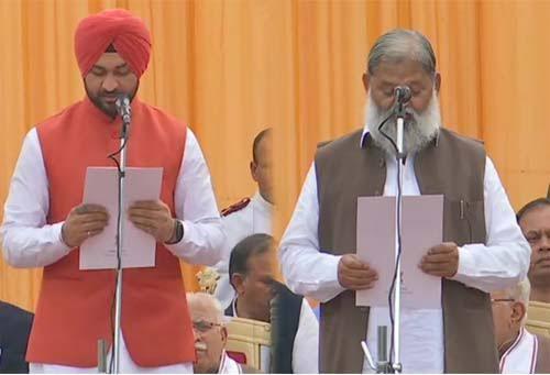 हरियाणा : विज समेत ये 6 विधायक बने कैबिनेट मंत्री, पूर्व हॉकी खिलाड़ी संदीप सिंह ने ली राज्यमंत्री की शपथ