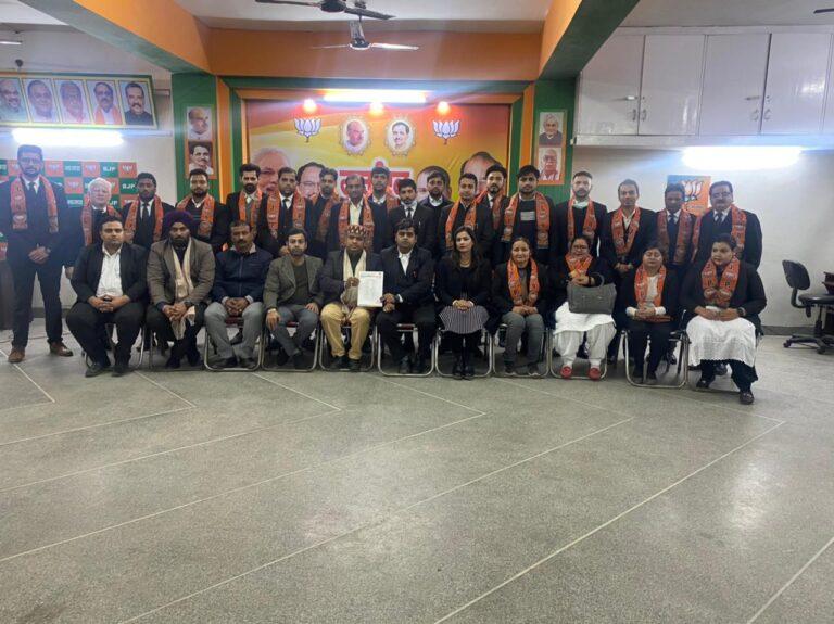 भाजपा लीगल सेल के जिला अध्यक्ष एडवोकेट लखन गांधी ने की कार्यकारिणी की घोषणा