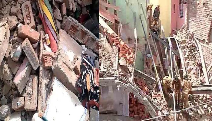 दिल्ली में बड़ा हादसा: सदर बाजार में देखते ही देखते पूरी इमारत हुई जमींदोज, 5 लोग मलबे में दबे