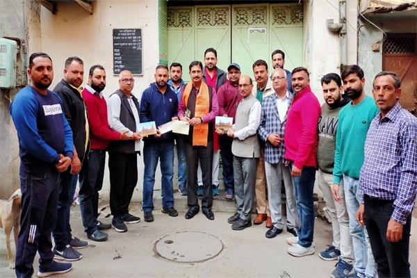 श्री राम मंदिर निर्माण के लिए रुद्रसेना संगठन ने दिया 1.25 लाख रुपए का योगदान