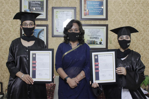 GNDU में स्थान हासिल करने वाली DIPS की छात्रा को किया गया सम्मानित