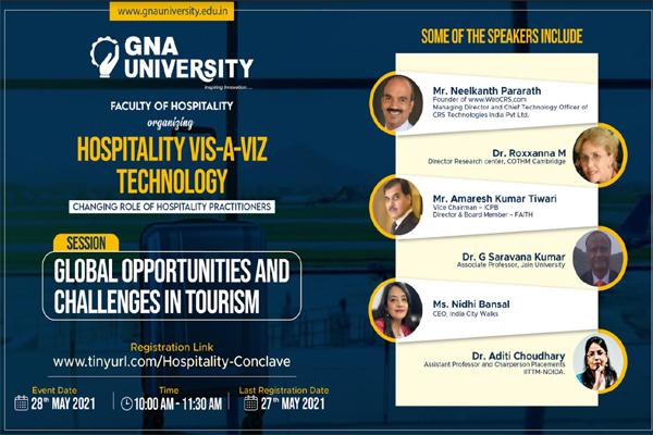 'Hospitality viz-a-viz Technology: Changing Role of Hospitality Practitioner' Held @ GNA University