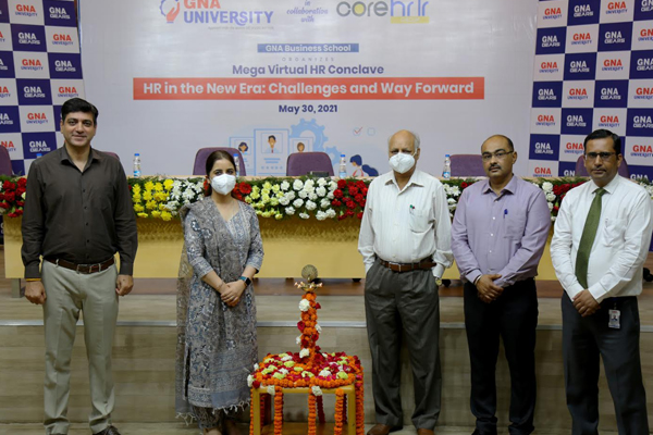 MEGA VIRTUAL HR CONCLAVE, 2021: HR IN THE NEW ERA- CHALLENGES & WAY FORWARD HELD @ GNA UNIVERSITY