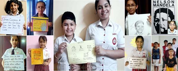 DIPS स्कूल में मनाया गया नेल्सन मंडेला डे, बच्चों को ह्यूमन राइट्स के प्रति किया गया जागरुक