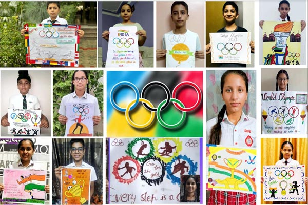 ओलंपिक खेलों में भाग ले रहे भारतीय खिलाड़ियों को DIPS विद्यार्थियों ने दी शुभकामनाएं