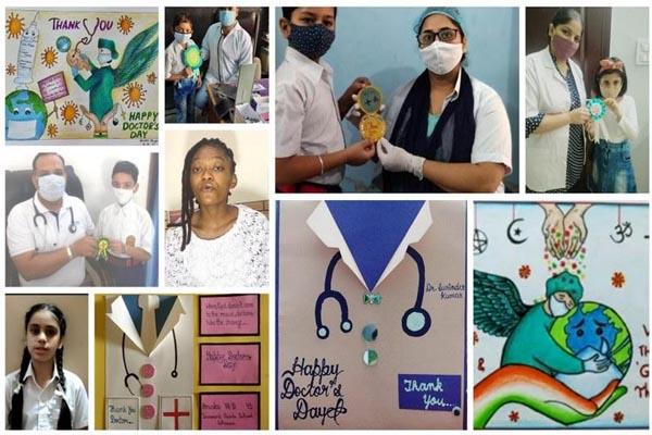 नेशनल डाक्टर्स डे पर Innocent Hearts के विद्यार्थियों ने डाक्टर्स के प्रति किया आभार व्यक्त