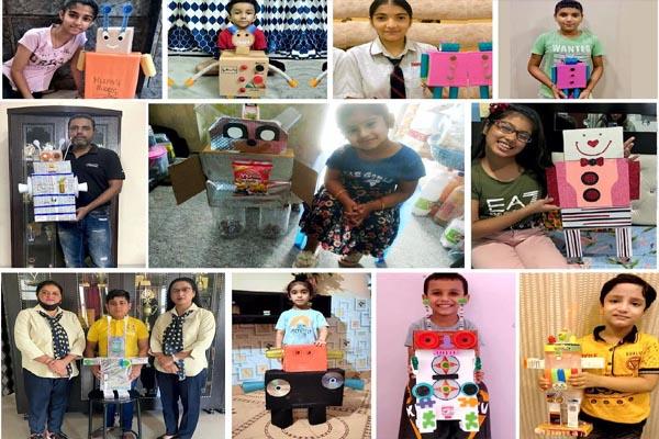 Read more about the article DIPS में अपनी सोच और कला का प्रदर्शन करते हुए बच्चों ने बनाए रोबोट