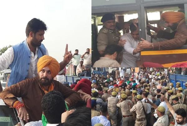 Read more about the article सहारनपुर में नवजोत सिंह सिद्धू को पुलिस ने हिरासत में लिया, लखीमपुर जाने की जिद्द पर अड़े